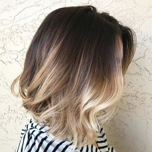 Best 25 dark brown blonde ombre ideas on pinterest brown hair 27 pretty lob haircut ideas you should copy in 2017 blonde ombre lobdark brown urmus Image collections
