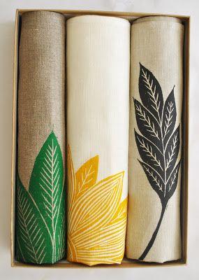 Kiran Ravilious: Boxed set of tea towels