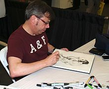 Wolverine (character) - Wikipedia:Carlos Pacheco sketching Wolverine at the 2013 Wizard World New York Experience.