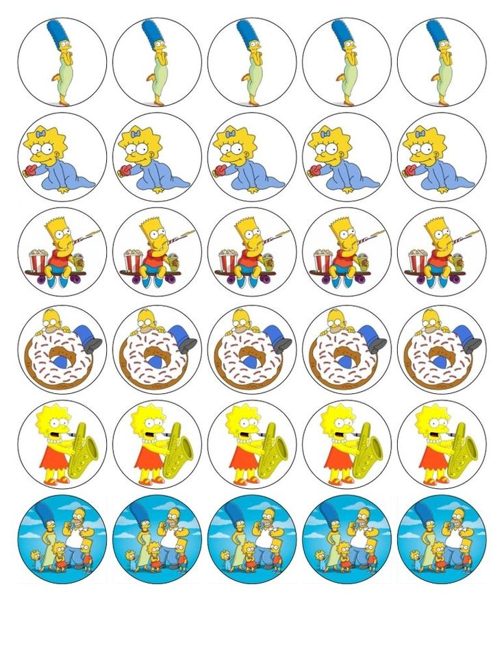 30X 4cm SIMPSONS AND CO EDIBLE FONDANT/WAFER FAIRY CUP CAKE TOPPERS in Crafts, Cake Decorating | eBay
