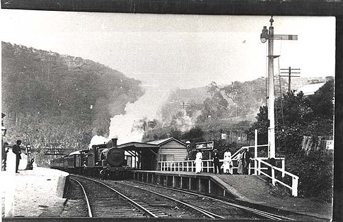 Stanwell Park Railway Station. Dated: c. 01/01/1914. Digital ID: 17420_a014_a014000835 Rights: www.records.nsw.gov.au/about-us/rights-and-permissions