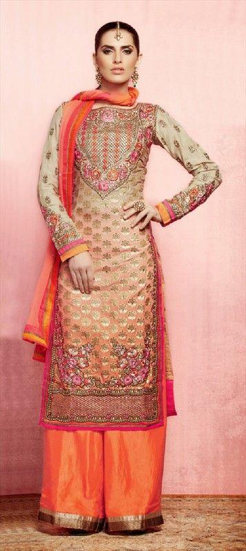 416970: #SalwarKameez #peach #pants #onlineshopping #sale #palazzo #partywear