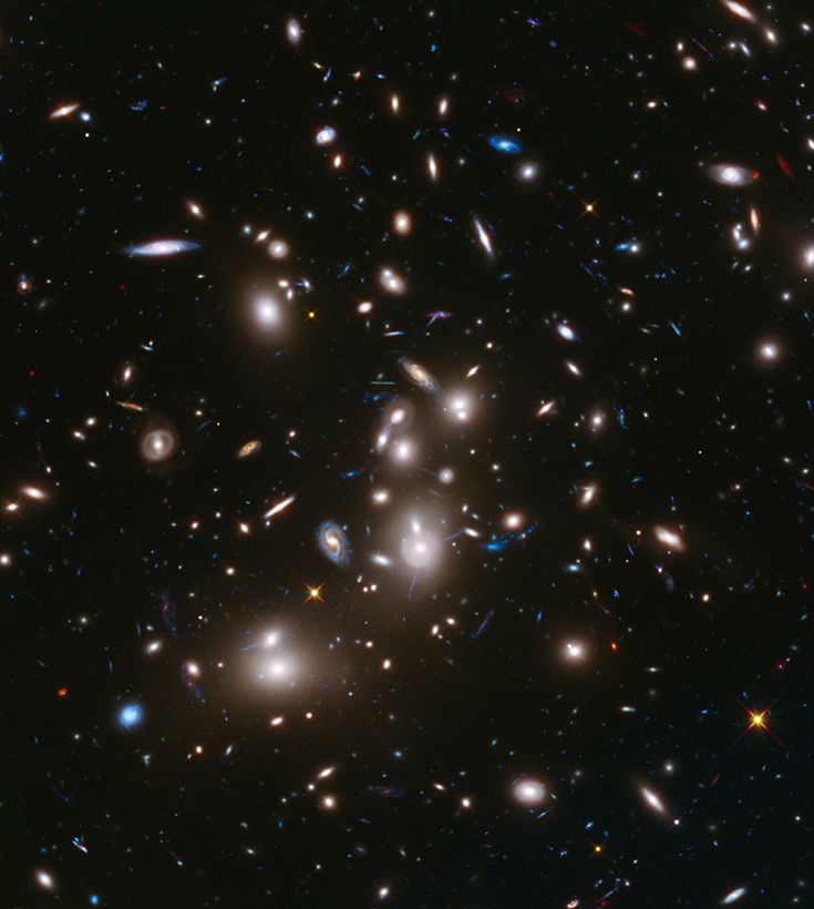 """""""This long-exposure Hubble Space Telescope image of massive galaxy cluster Abell 2744 is the deepest ever made of any cluster of galaxies."""""""