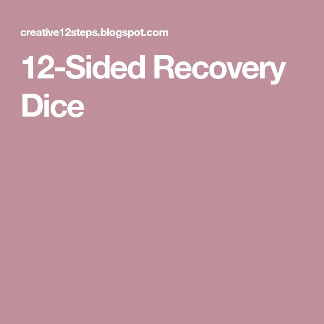 12-Sided Recovery Dice