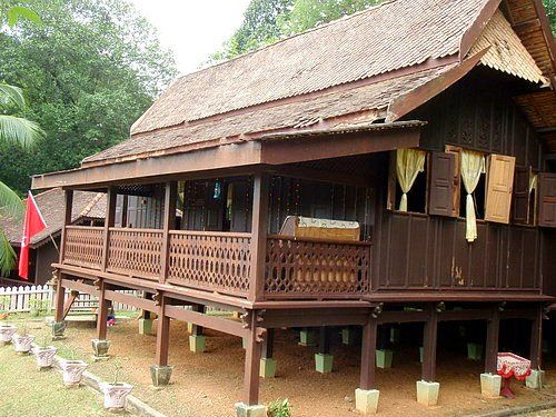 A traditional kelantan malay house malaysia time for Architecture design malaysia house