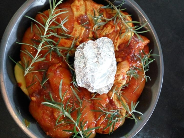 Spices chiken rosmary