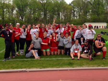 The Catholic University of America women's track and field team claimed four titles to finish 3rd at the Landmark Conference Championships