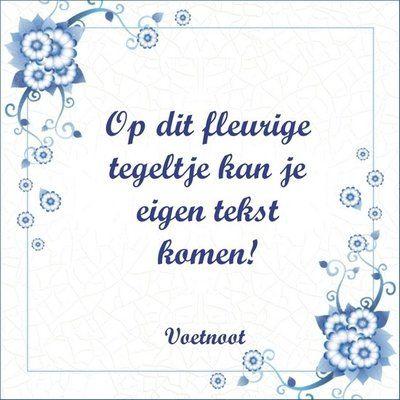 Delfts Blauw tegeltje (nr.34)