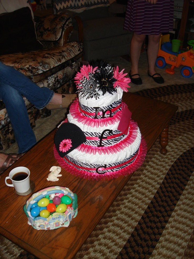 Baby Cake Made Of Diapers