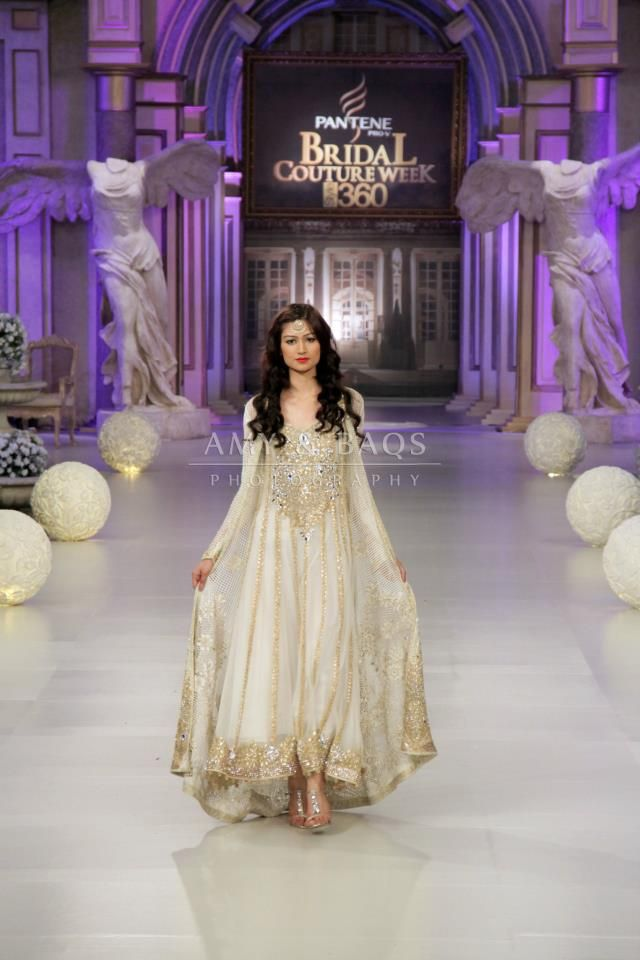 Tabbasum Mughal Pakistani Designer! Bridal Off-White Dress