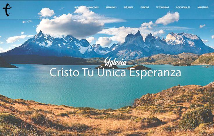 Sitio web www.ctue.cl para nuestro cliente Iglesia Cristo tu Única Esperanza. Versión 2016.
