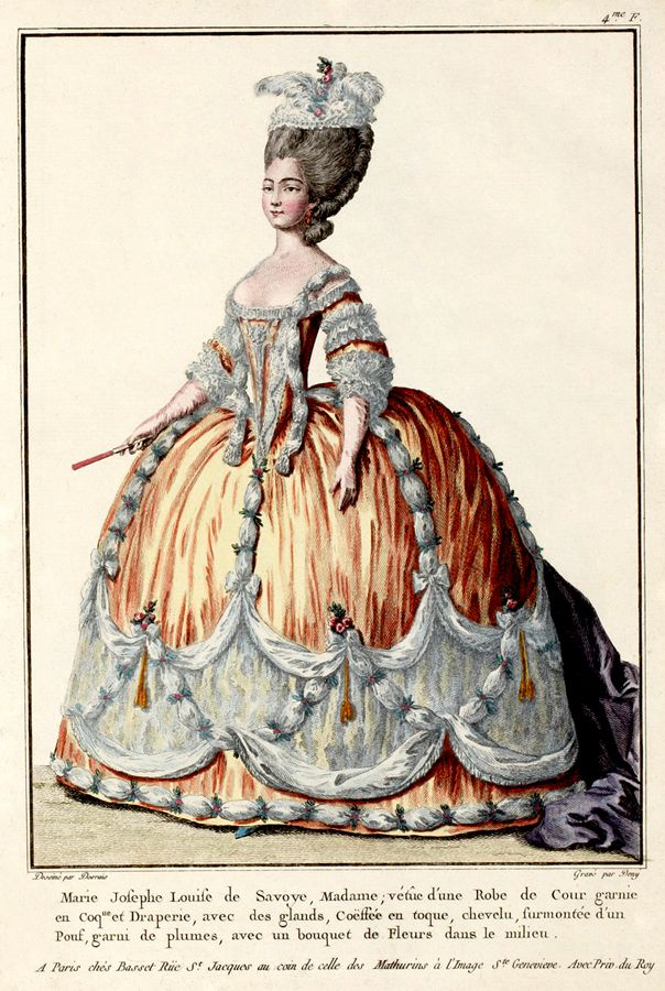 1774 French Fashion Plate French Fashion Pinterest