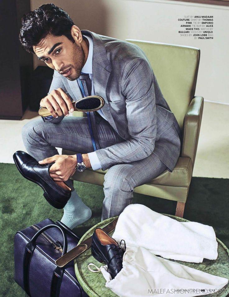 Azhar Suleman para GQ India Enero por Nil Hoppenot