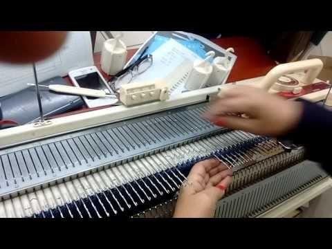 Tejer a máquina Hombros y escote - YouTube