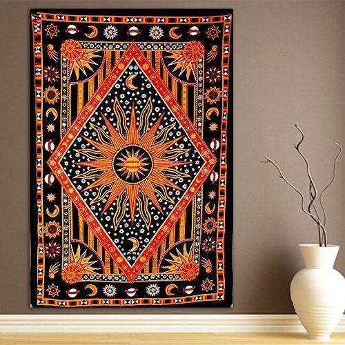Autumn Equinox Sun Mandala Bohemian Yoga Wall Boho Tapestry