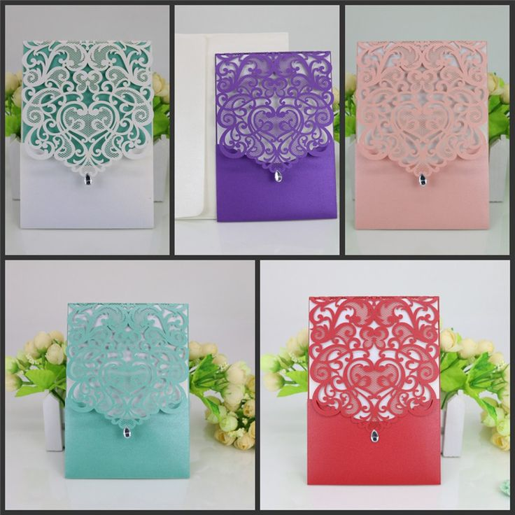 10pcs/lot Rectangle Hollow Awesome Flowers Butterfly Laser Cut Wedding Invitations Engagement Wedding Party Invitation Cards