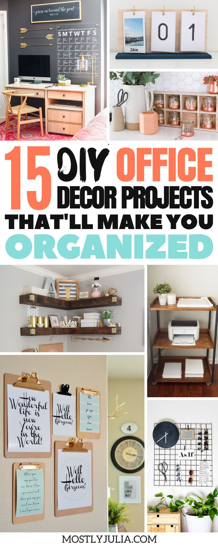 Organization DIY projects to make your small