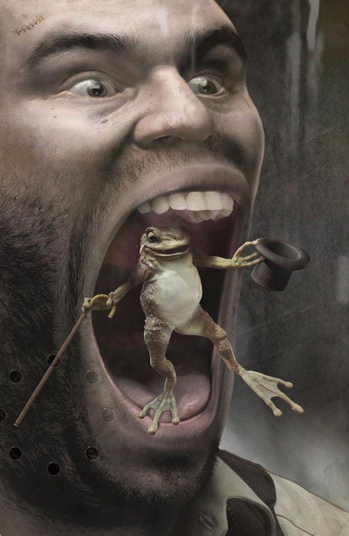 Frog with top hat: by disko ferdi