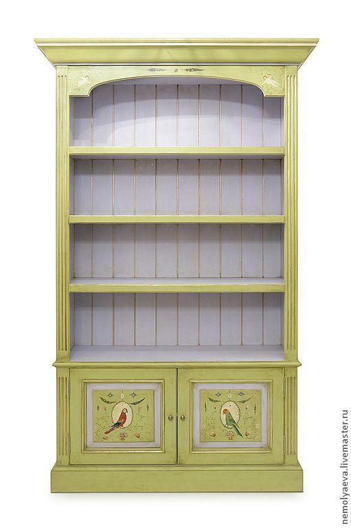 """Шкаф ручной работы с росписью """"Попугаи"""" - мебель для детской,мебель ручной работы"""
