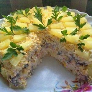 Очень вкусный Салат-торт…