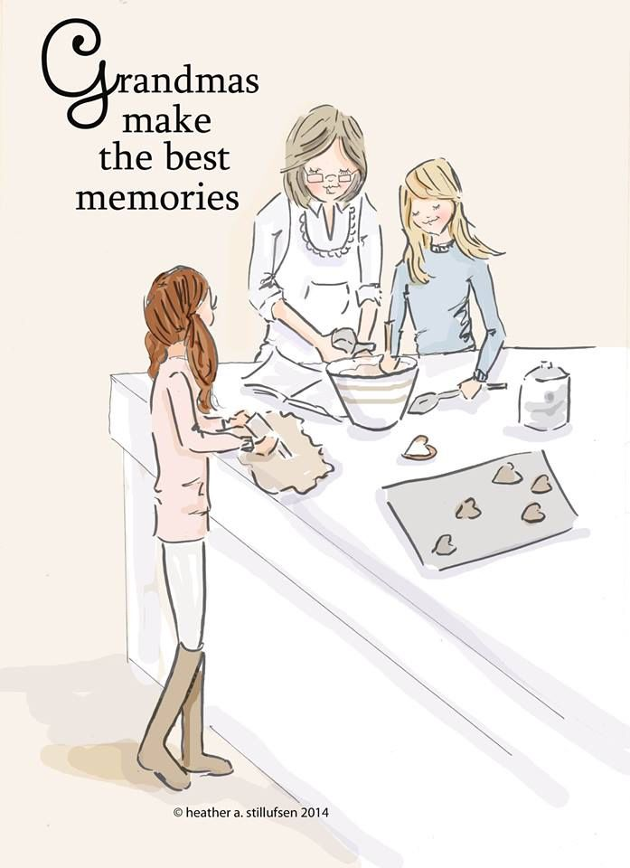 Grandmas Make the Best Memories- Family Wall Art Print - Grandma Wall Art…