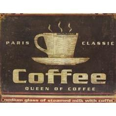For the kitchen...I love coffeeHobbies Lobbies, Tins Wall, Wall Signs, The Queens, Coffee Bar, Coffe Breaking, Paris Classic, Coffe Tins, Tins Art