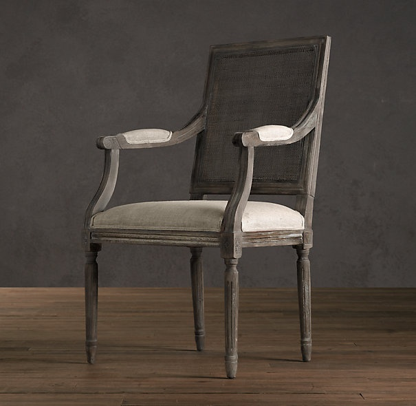 vintage french cane armchair