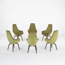 Giraffe chairs from the SAS hotel, set of six by Arne Jacobsen