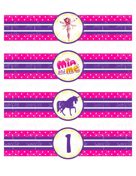MIA AND ME - WATER BOTTLE WRAPPERS - Mia and Me inspired - by JustAddFrosting, $3.00