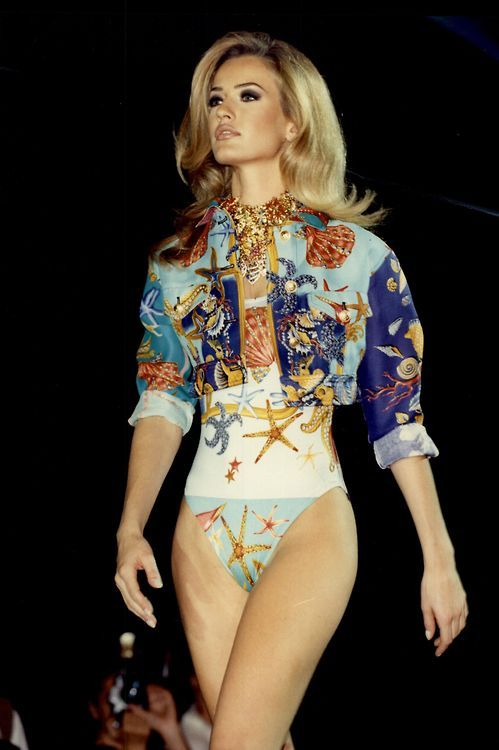 The Coveteur on Tumblr — karen-mulder: Karen Mulder for Versace (90s)