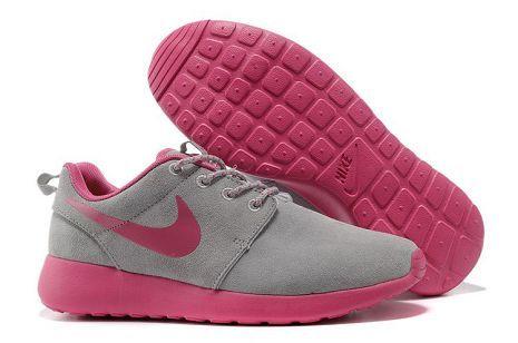 Femme Chaussures De Sport Basket Nike Roshe Run Hyp Gris Rose