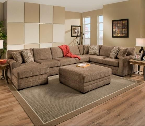 90350 Transitional 3 Piece Sectional Sofa By United