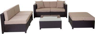 heute-wohnen Poly-Rattan-Garnitur Tapa, Gartengarnitur Sitzgruppe Lounge-Set, Alu Jetzt bestellen unter: https://moebel.ladendirekt.de/garten/gartenmoebel/loungemoebel-garten/?uid=72eebe1e-f210-5400-b74c-fa0fc23453a1&utm_source=pinterest&utm_medium=pin&utm_campaign=boards #loungemoebelgarten #garten #gartenmoebel