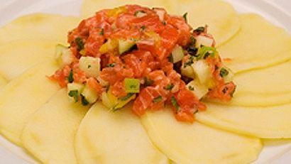Tartare de saumon aux mangues
