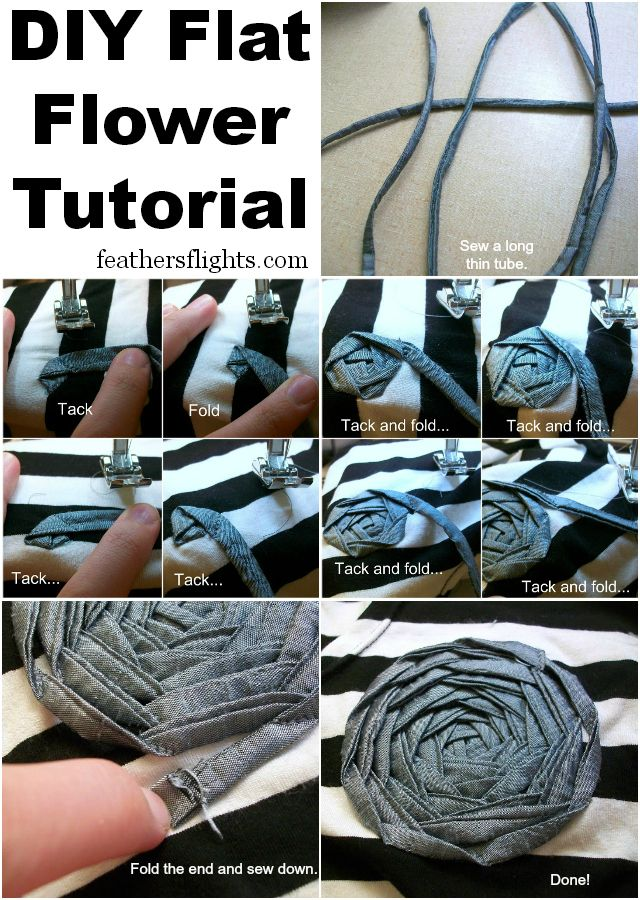 Feather's Flights {a creative, sewing blog}: Sewing 101 - Sewing a Flat Flower // coser una flor