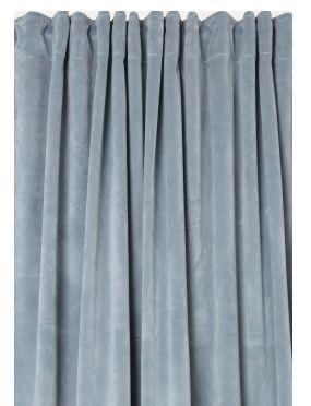sammetsgardine ljus aqua - långa gardiner | ambinesshome.se