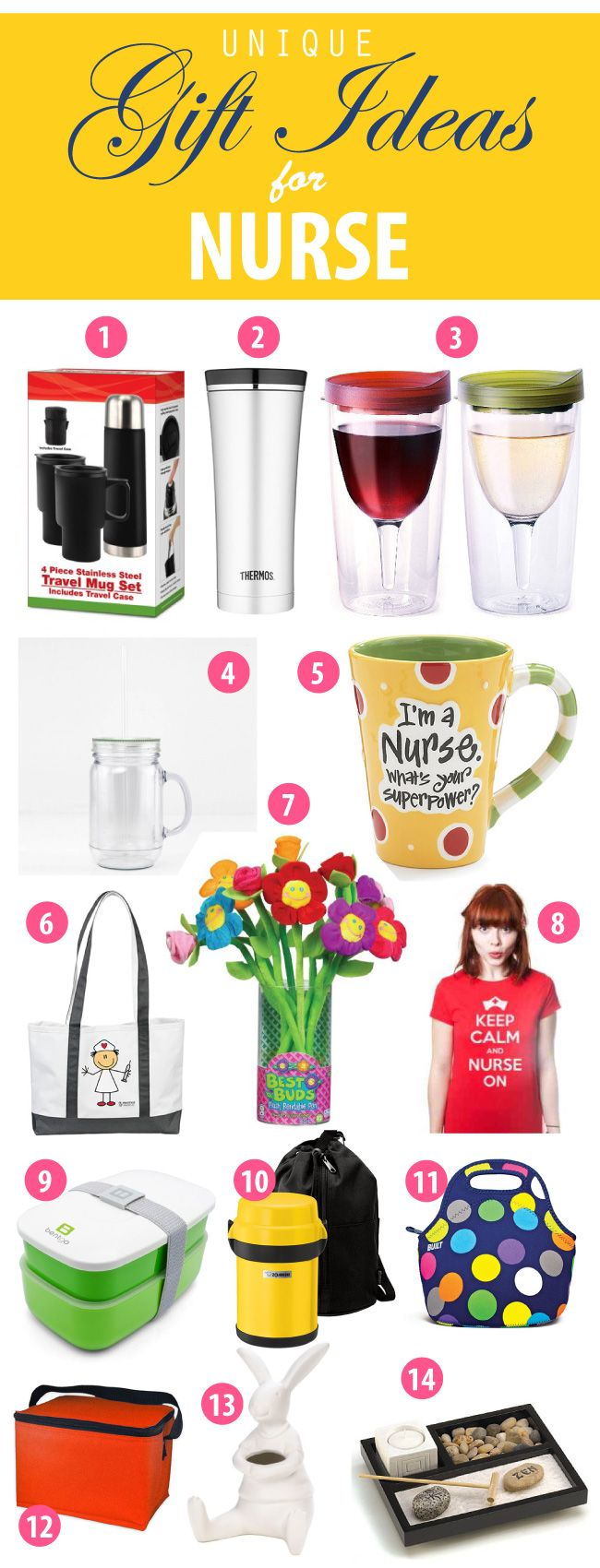 Nurse gifts + 14 great appreciation gifts for nurses #nurse http://vividgiftideas.com/2014/04/09/unique-national-nurses-week-gift-ideas-2014/
