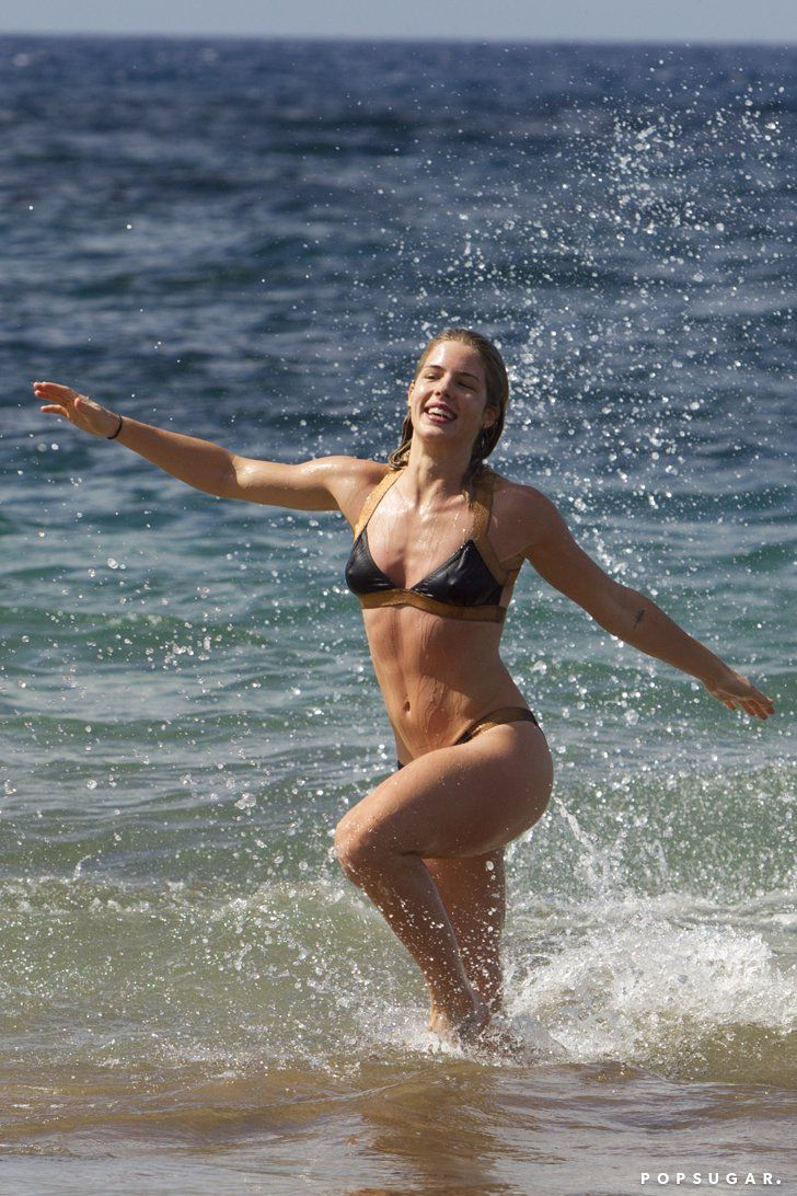 Pin for Later: The Best Bikini Moments of 2015! Emily Bett Rickards