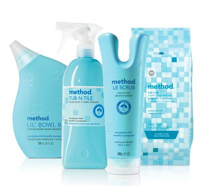 Method bathroom cleaners...actually, all of Method's cleaners are excellent, and they cost about the same as toxic nasty brands that are tested on animals.