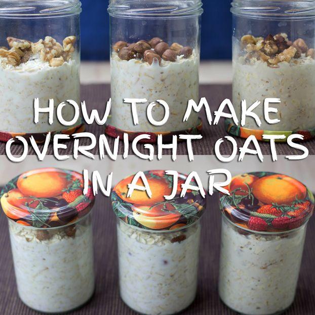 Como fazer Overnight Aveia em um frasco + 28 Tasty Overnight #breakfast Receitas Aveia #oats | hurrythefoodup.com