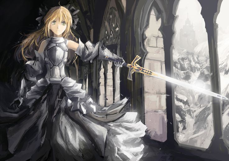 Anime picture   fate (series)  fate/unlimited codes  saber lily  single  blonde hair  fringe 1175x831 309910 en