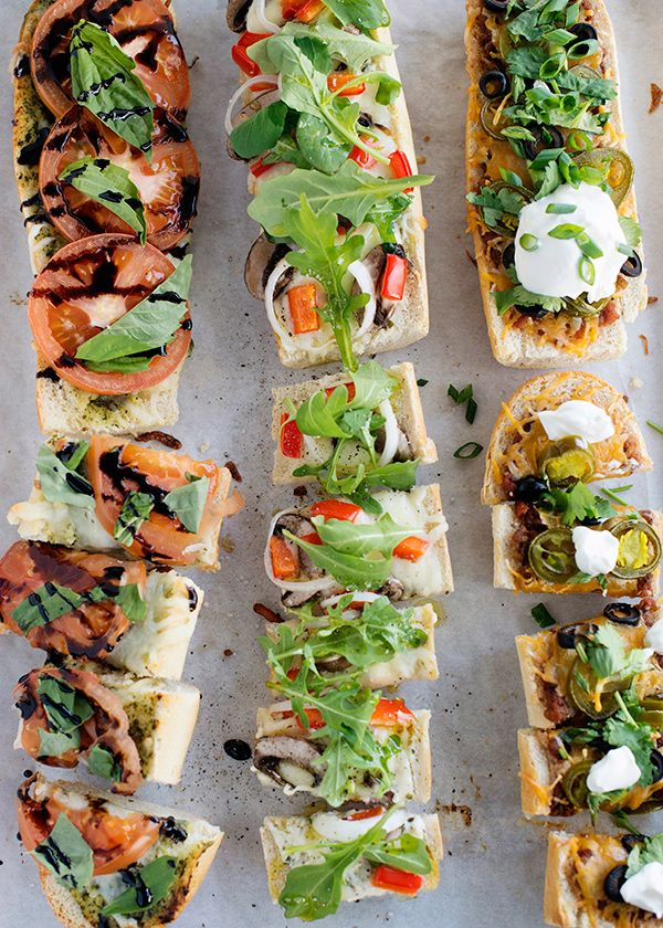 Remember being a kid and your mom making French bread pizza in the toaster oven? I thought it was the best thing ever when my mom would make these for us. I am continuing the tradition, but fancying up mine a teensy bit. I made three different kinds Nacho Pizza, Tomato Pesto, andGarlic and Herb Veggie. These are great for [...]