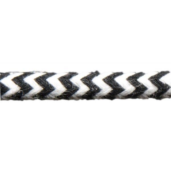 Kabel w oplocie bawełnianym - pepitka - 11,90 zł - LampaLampa.pl