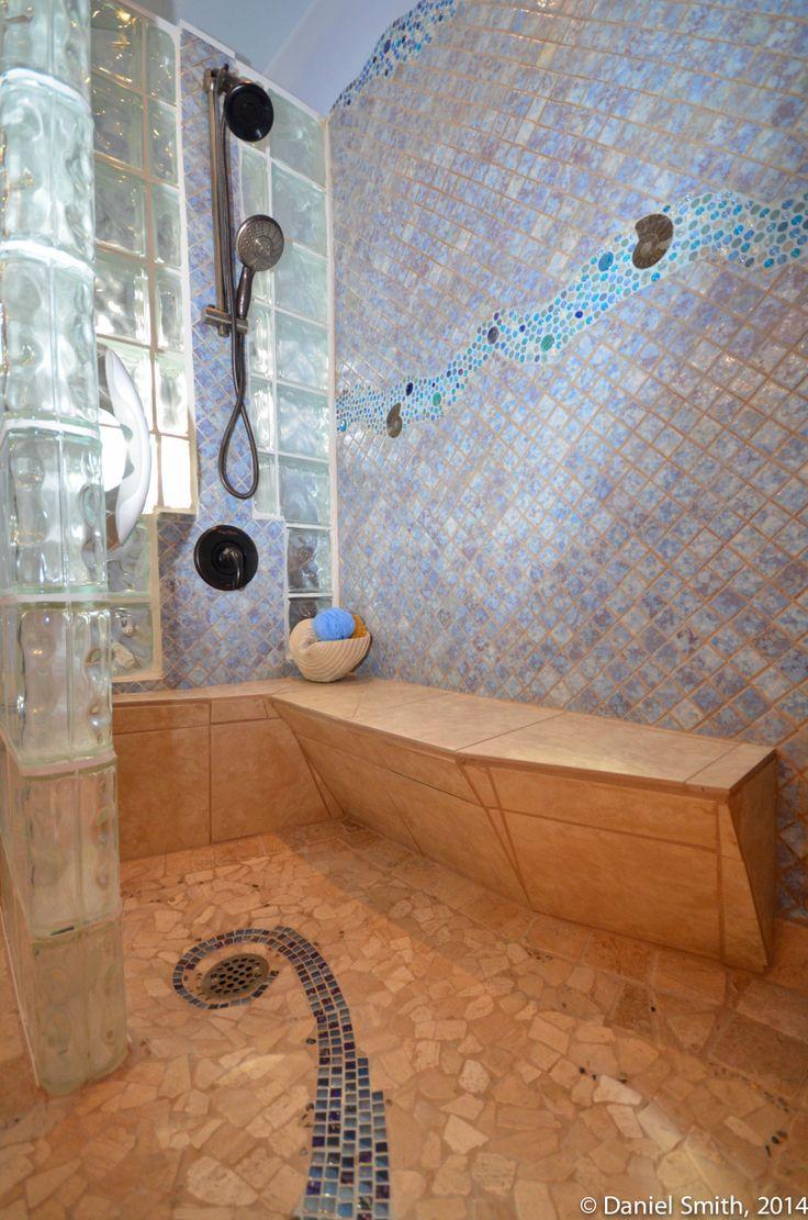 Mermaid Bathroom With Undersea Tile Walls And Floor Roll