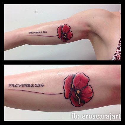 Poppy Flower Tattoo #Brisbane #Tattoo #Artist #Tattooist