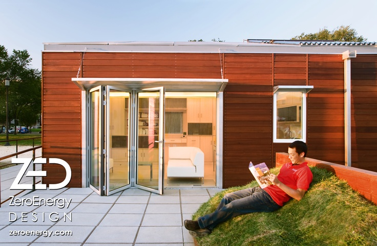 Transportable, zero-energy solar home that integrates indoor and outdoor living by ZeroEnergy Design. zeroenergy.com