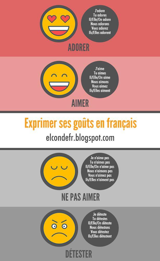 El Conde. fr: Exprimer ses goûts en français