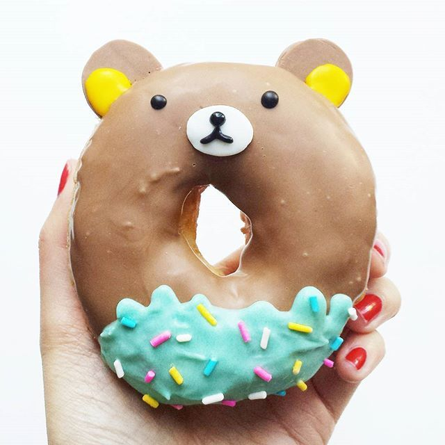 These cute donuts are too much to handle! We almost don't want to eat them because they're so adorable.