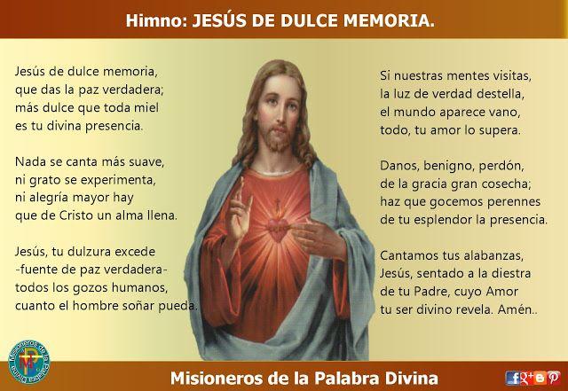 MISIONEROS DE LA PALABRA DIVINA: HIMNO LAUDES - JESÚS DE DULCE MEMORIA.