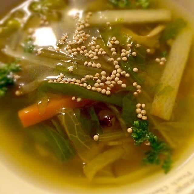 息子バイト後の夕食w - 46件のもぐもぐ - 野菜たっぷりスープ by miebo